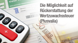 Die Möglichkeit auf Rückerstattung der Wertzuwachssteuer (Plusvalía)