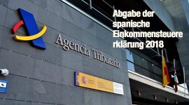 Abgabe der spanische Einkommensteuererklärung 2018
