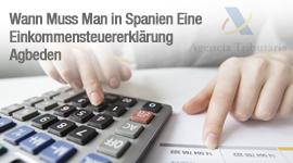 Wann muss man in Spanien eine Einkommensteuererklärung abgeben