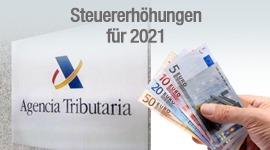 Steuererhöhungen für 2021